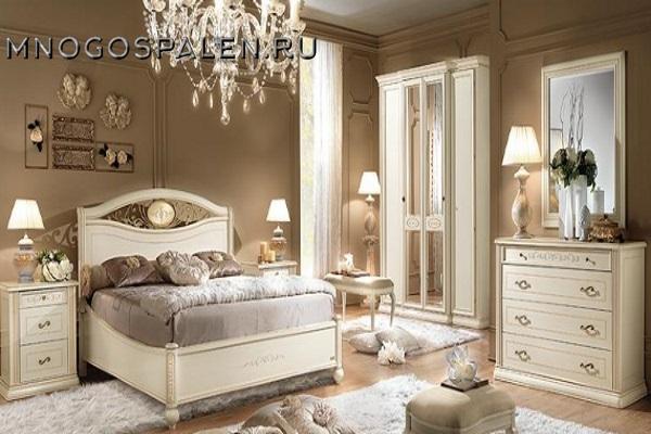 СПАЛЬНЯ SIENA AVORIO композиция 5 Camelgroup купить в салоне-студии мебели Барселона mnogospalen.ru много спален мебель Италии классические современные