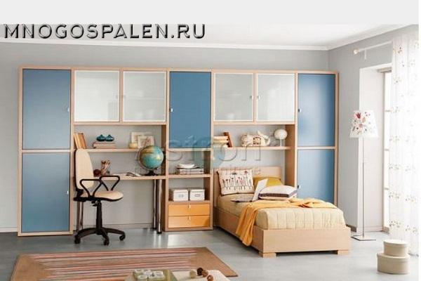 Мебель для мальчика T103 Астрон купить в салоне-студии мебели Барселона mnogospalen.ru много спален мебель Италии классические современные