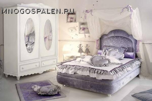 Детская кровать Bambino GM 07 купить в салоне-студии мебели Барселона mnogospalen.ru много спален мебель Италии классические современные