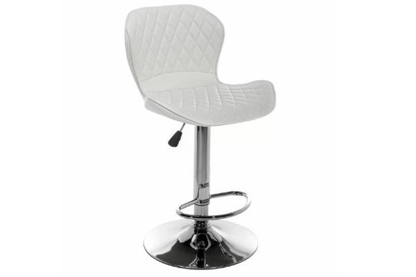 Барный стул Shanon CColl T-1002 white leather купить в салоне-студии мебели Барселона mnogospalen.ru много спален мебель Италии классические современные