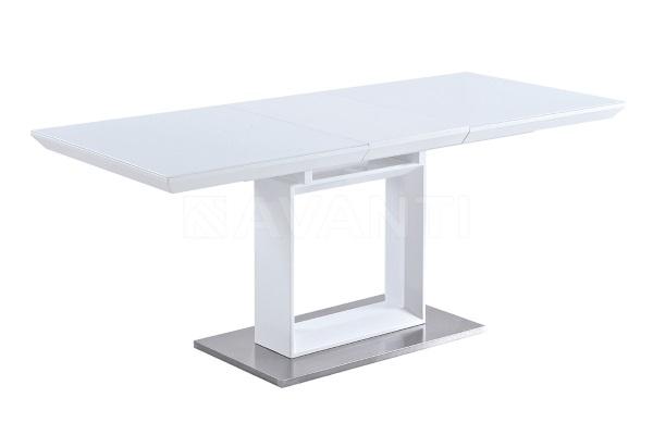 Стол обеденный ROBIN (белый лак со стеклом) купить в салоне-студии мебели Барселона mnogospalen.ru много спален мебель Италии классические современные